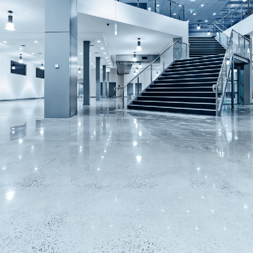 polished concrete commercial